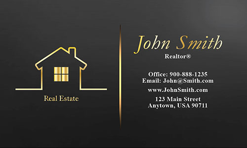 Full Color Real Estate Business Card - Design #106562